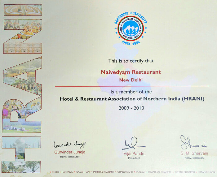 Hotel & Restaurant Association of Northern India 2009-2010